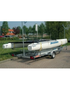 Pega CKC1150 750 Catamaran Trailer Canted Confort