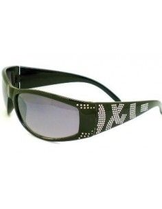 Barz Optics Capri Matt Black Diamonte Trim AC Polarised Amber