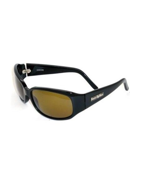 Barz Optics Coco Gloss Ziel Hand Made Black CR Polarised Amber