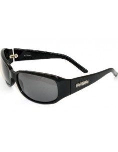 Barz Optics Coco Gloss Ziel Hand Made Black CR Polarised Grey