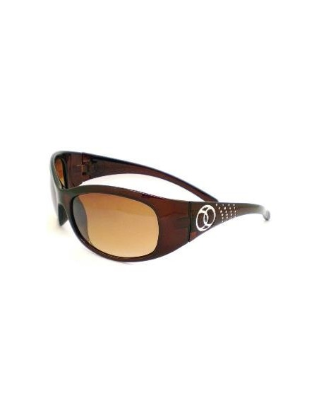 Barz Optics Hayman Brown Diamonte Trim AC Polarised Amber