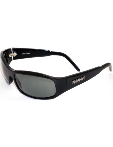 Barz Optics Madjimba Gloss Ziel Hand Made Black GL Polarised Grey