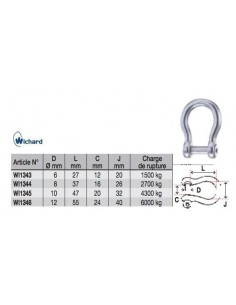 Wichard Shackle Bow Allen Head Pin