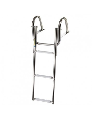 Stainless steel ladder with 4 telescopic steps