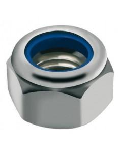 Ecrou Frein (NylStop) Metrique Inox A2 Hexagonal M4