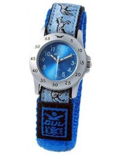 Gul Children Micro Chrome Blue Dial Velcro Strap
