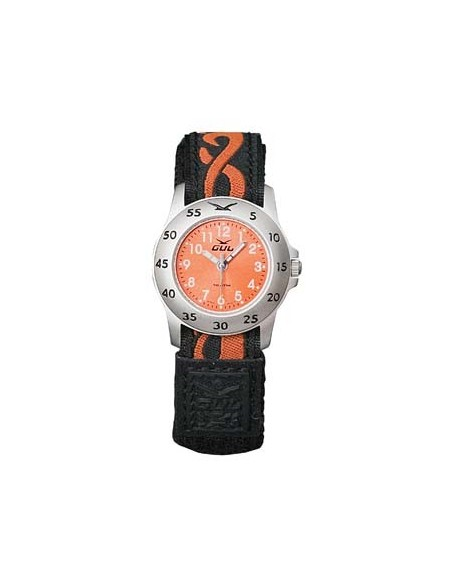 Gul Children Micro Chrome Orange Dial Velcro Strap