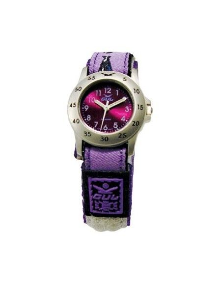 Gul Children Micro Chrome Purple Dial Velcro Strap