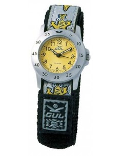 Gul Children Micro Chrome Yellow Dial Velcro Strap
