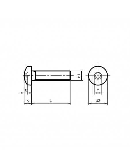 Stainless Steel Screws M5 40mm Pozidriv Head Convex