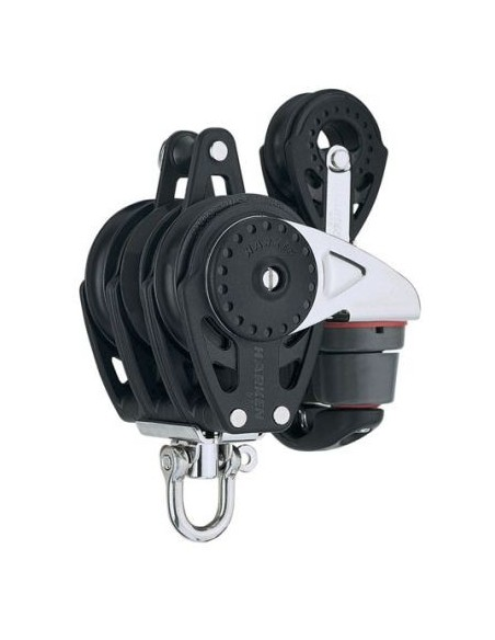 Harken Carbo 57mm Triple Ratchamatic Swivel Becket Block w/150 Cam-Matic 29mm