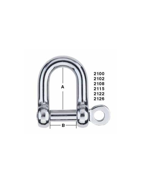 Harken Shackle D 6mm