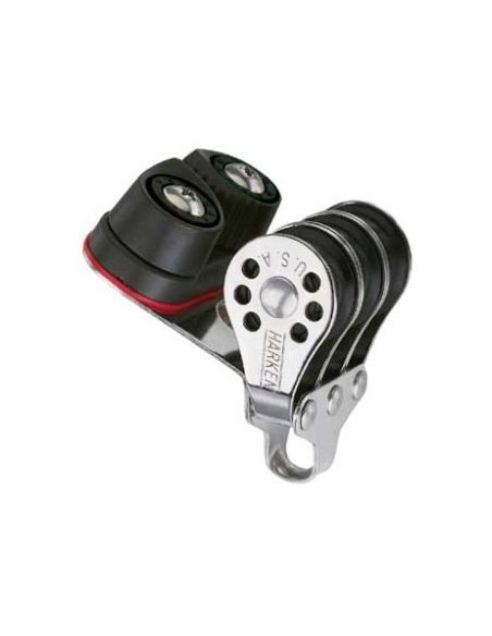 Harken Micro Poulie 22mm Triple avec Taquet Carbo-Cam 423
