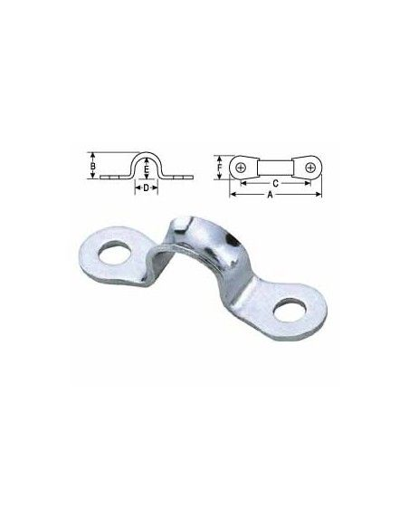 Harken Micro Eyestraps Stainless Steel 36mm